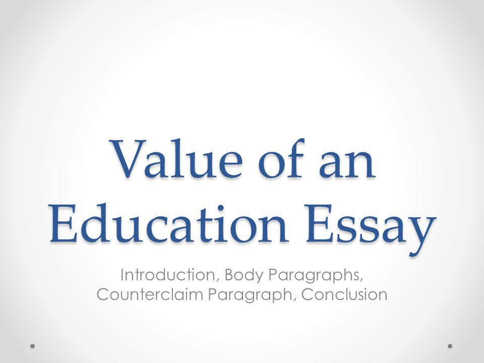 Essay on value of help